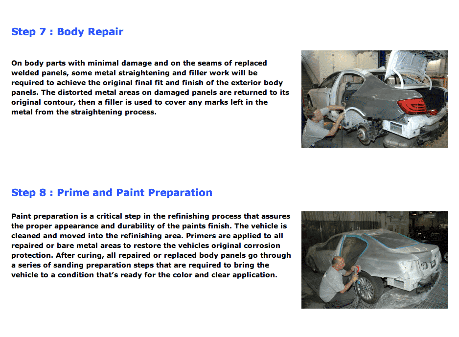 auto body repair process 4