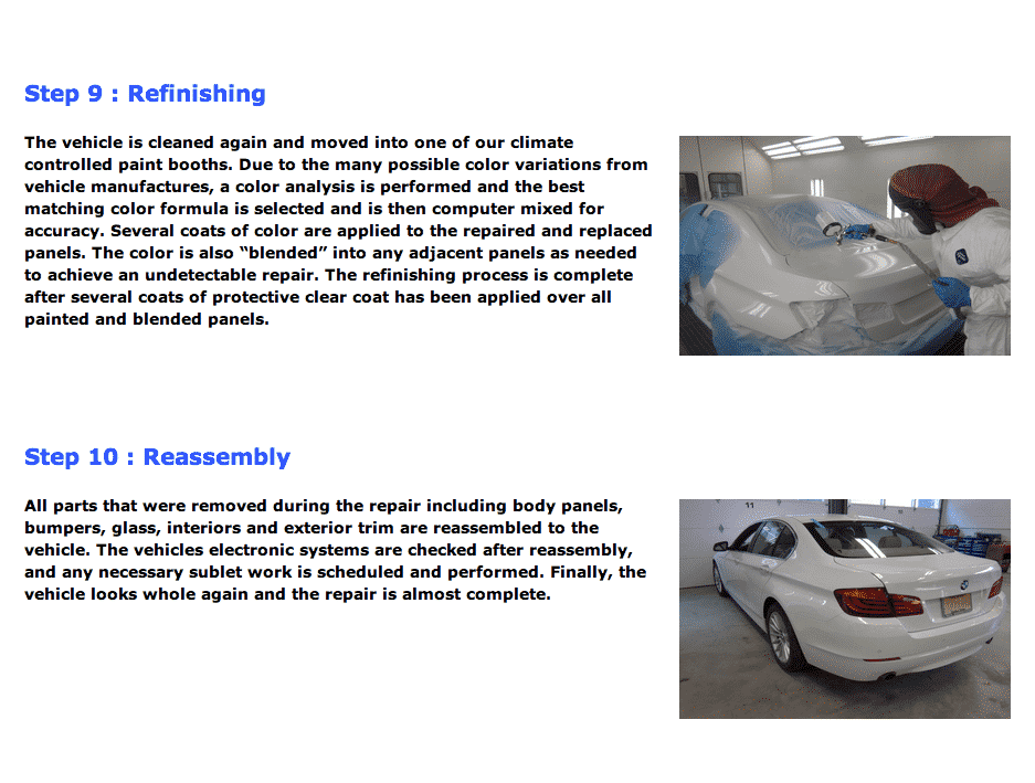 auto body repair process 5