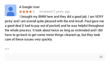 google auto repair review
