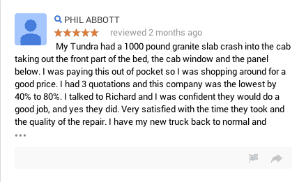 google car repair review