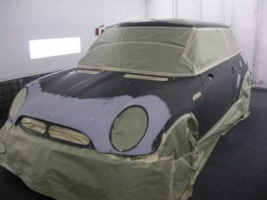 ready to paint mini cooper