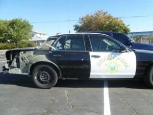 police car collision damage repair