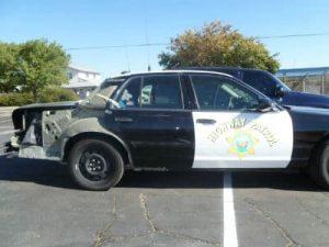 police car collision damage repair