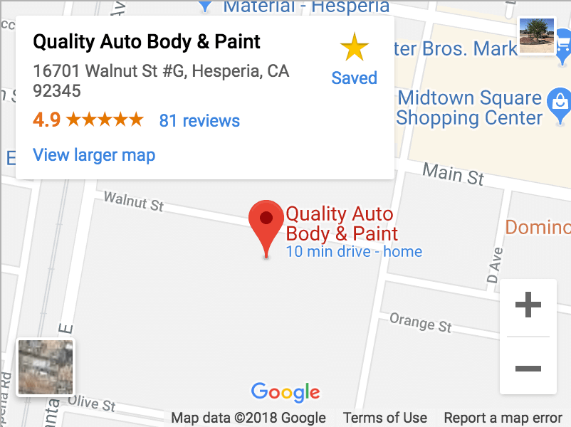 quality auto body & paint map