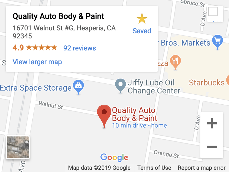 quality auto body & paint- map location