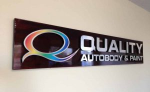 quality auto body and paint - office logo